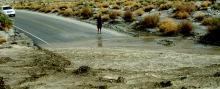 Flooding across Highway 78 in San Diego County, California, 22 Jul 2013. [Photo credit: NOAA]