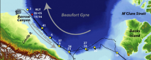 Survey map of the Beaufort Margin from Hly-1302