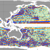 This illustration shows patterns of ocean currents.