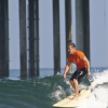 In the footsteps of his hero, Jeff Stein surfs at La Jolla Shores