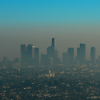 A smoggy Los Angeles skyline