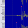 A waveform image from a magnitude 5.4 Mexicali earthquake that occurred on Feb. 8, 2008.