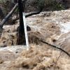 High flows in a tributary to Lake Mendocino after the February 2019 atmospheric river. Photo: CW3E