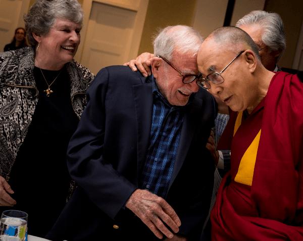 Walter Munk with Dalai Lama